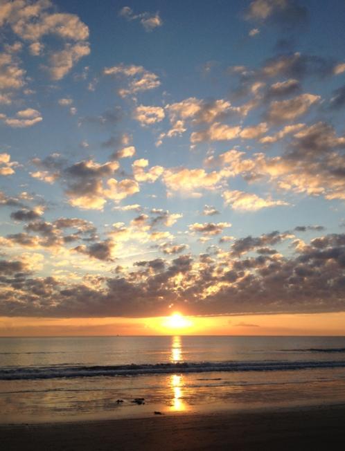 EARLY MORNING. Sunrise on Cocoa Beach, FL
