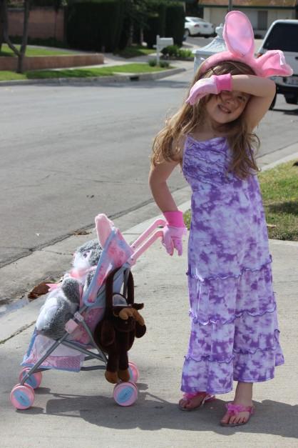 My oh-so-posh niece in Orange County, California.