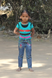 Young village girl in Gujarat, India.