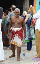 CHENNAI. Happy temple goer at the Kapaleeswaram Temple in Chennai.