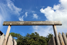 Entry to beautiful Fort Christmas. Christmas, FL