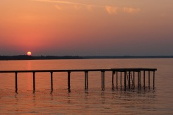 Spectacular sunset on Lake Kerr. Salt Springs