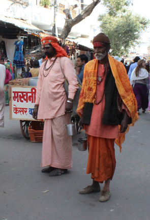 Holy men in Pushkar.