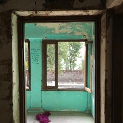 From inside Maharishi's house.